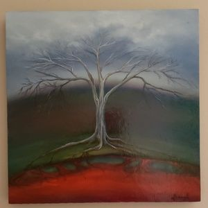 Original Oil Painting * Tree Of Life
